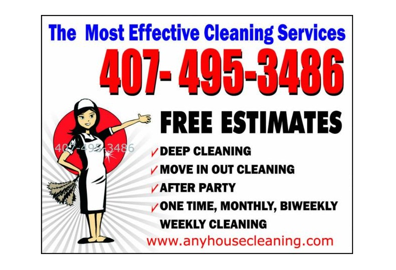 residential  u0026 house cleaning business flyer examples