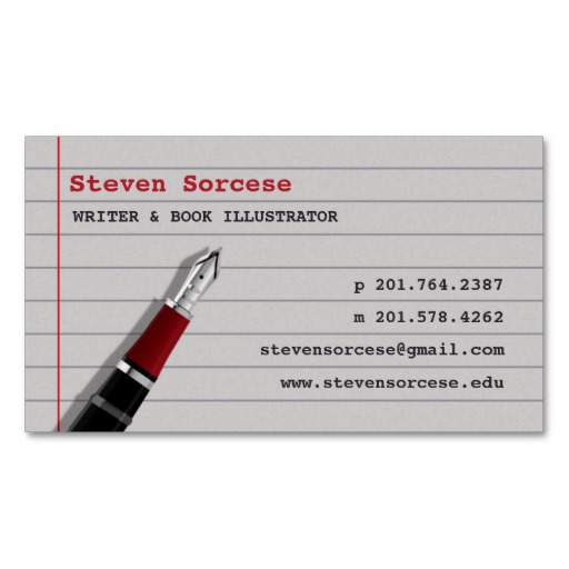 Writers content developers business card examples for Author business cards example