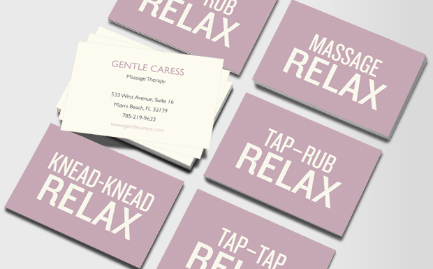 Massage Therapist Business Card Samples & Ideas