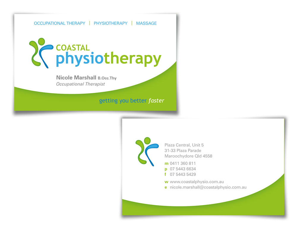 Physiotherapy Business Card Design Ideas & Samples