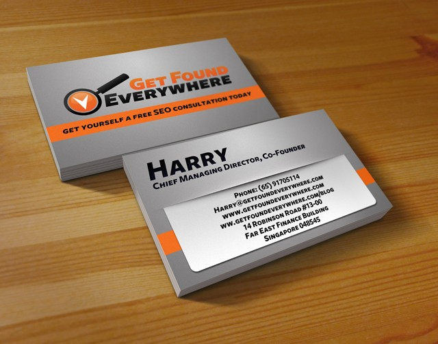 SEO Business Card Samples & Examples