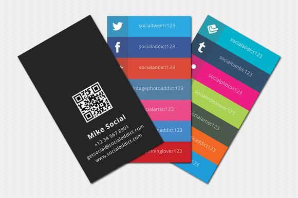 social media on business cards