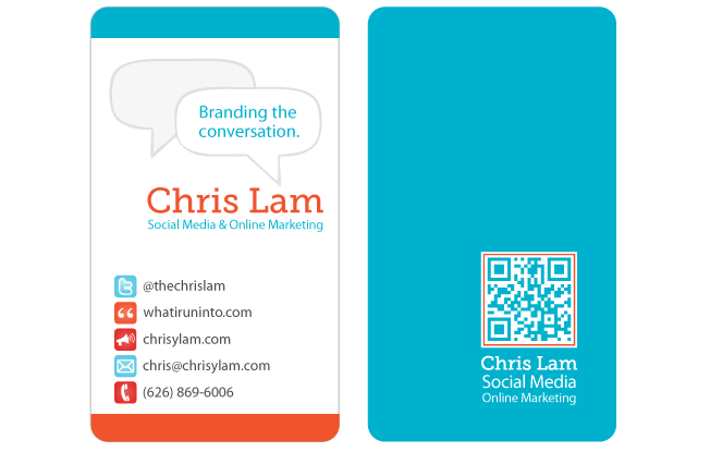 Social Media Business Cards Samples and Design Ideas ...