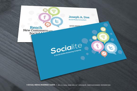 social media business cards samples and design ideas. Black Bedroom Furniture Sets. Home Design Ideas