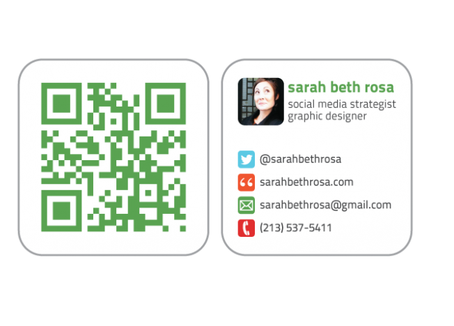 Social Media Business Cards Samples and Design Ideas