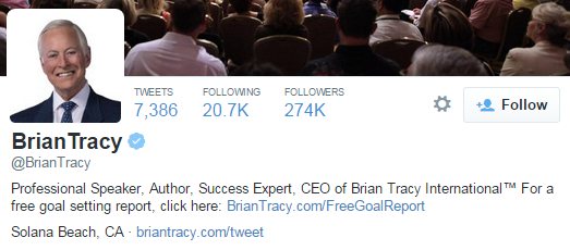 brian tracy twitter profile