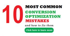 conversion optimization mistakes