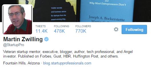 martin zwilling twitter profile