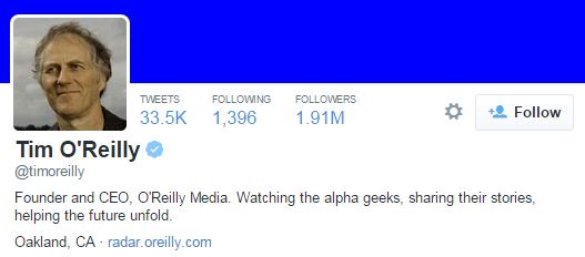 tim oreilly twitter profile