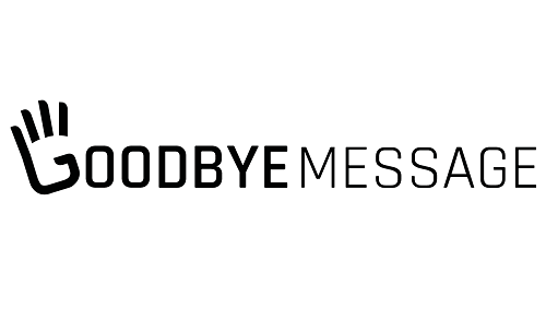 goodbye message logo