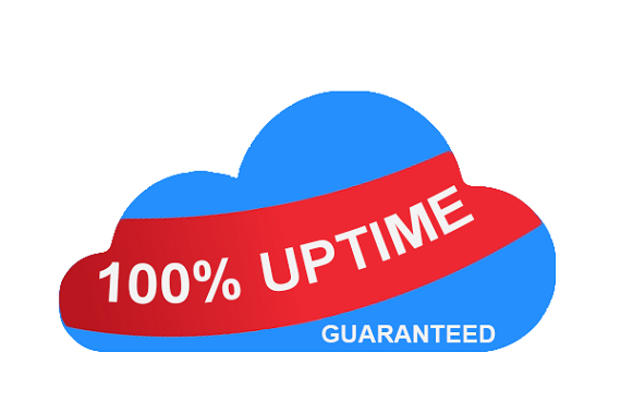 cloud hosting is 100 percent up