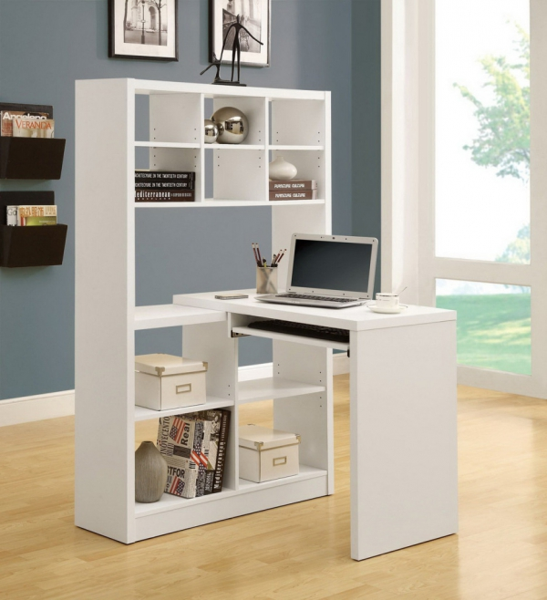 Space Saving Built In Office Furniture In Corners: Home Office Design Ideas For Small Spaces