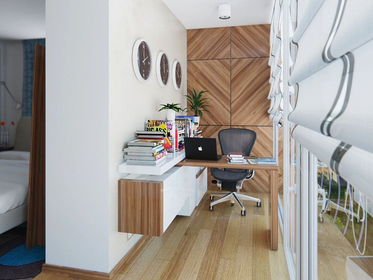 Home office design ideas for small spaces for Small corporate office design