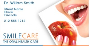 Dental Business Card Sample Designs & Ideas