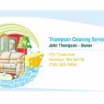 samples of cleaning business cards