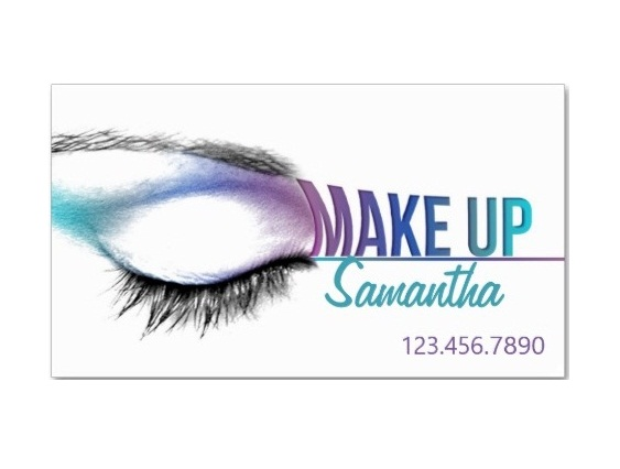 makeup artist business card samples
