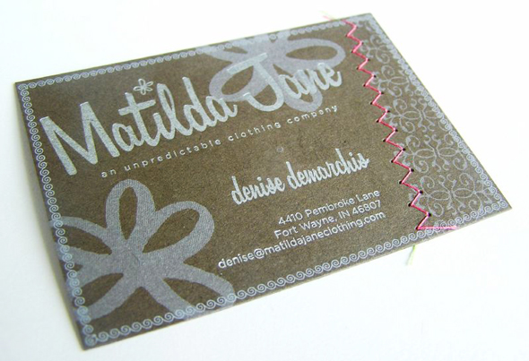 fashion designer clothing boutique business card ideas