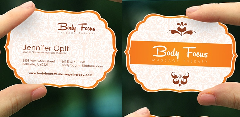 Massage Therapist Business Card Samples