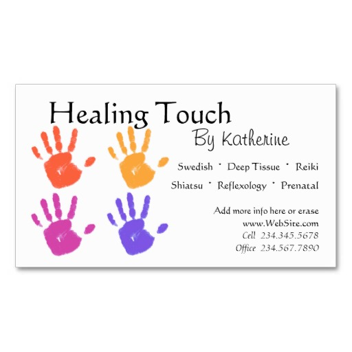 Healing Touch by Katherine Business Card Sample