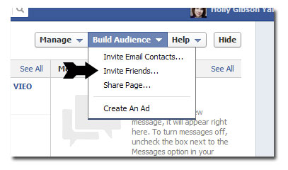 invite people to like facebook page