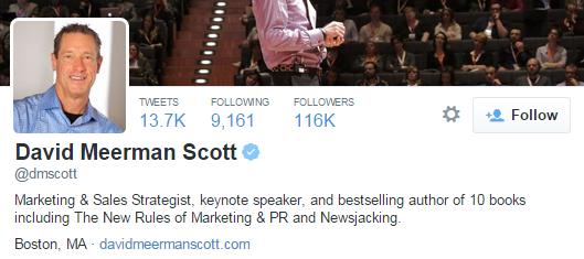 david meerman scott twitter profile
