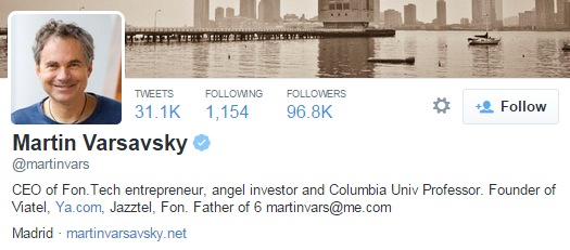 martin varsavsky twitter profile