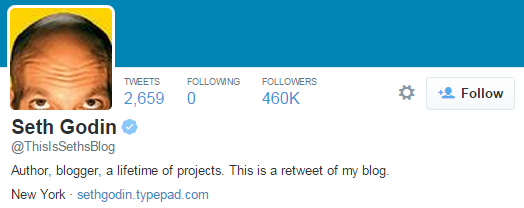 seth godin twitter profile