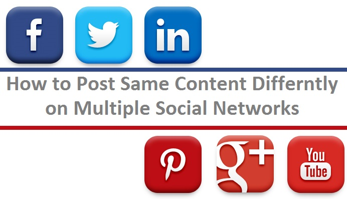 how to post same content on all social networks