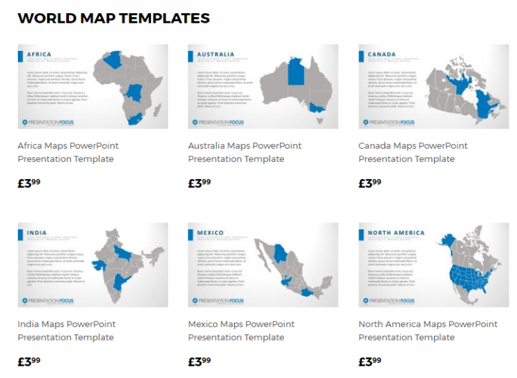 World Map Templates by PresentationFocus.com