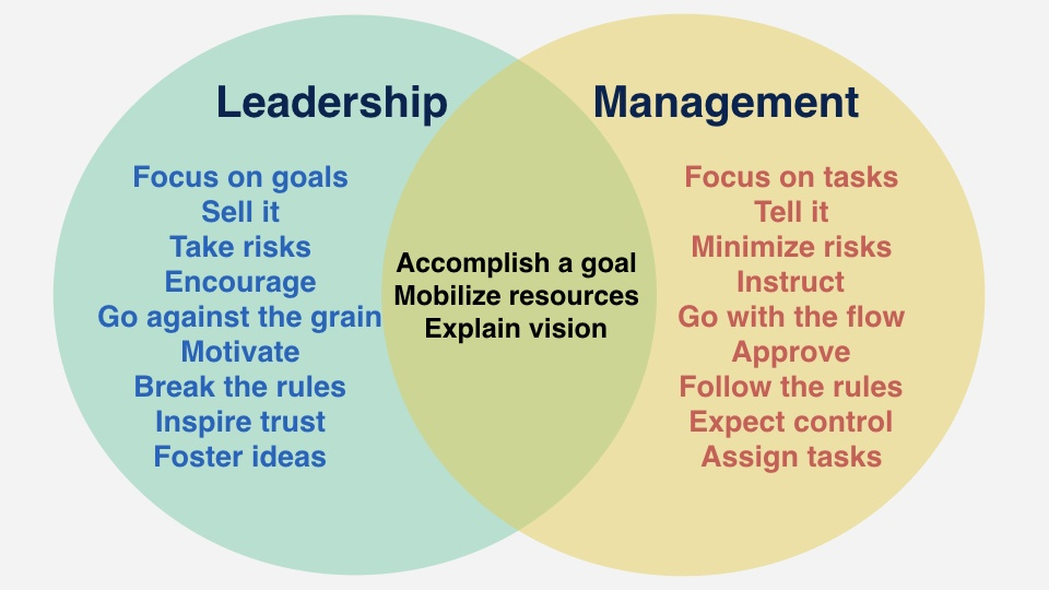 Leadership vs management essay