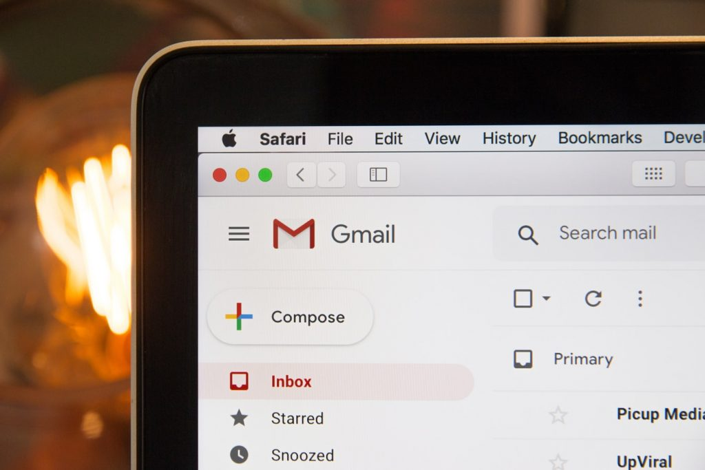 google mail page