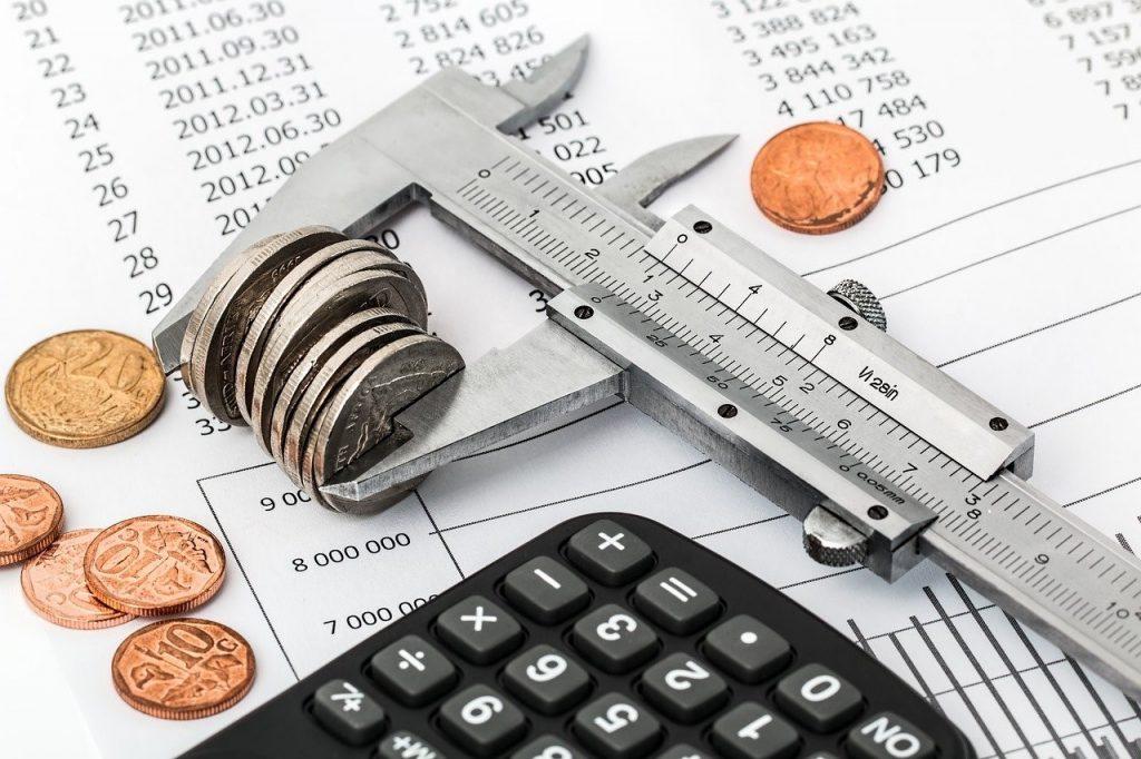 medición de monedas