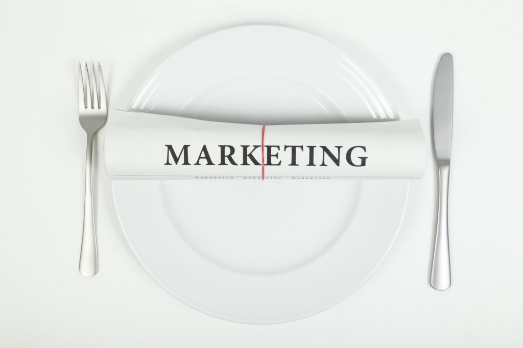 Marketing on plate