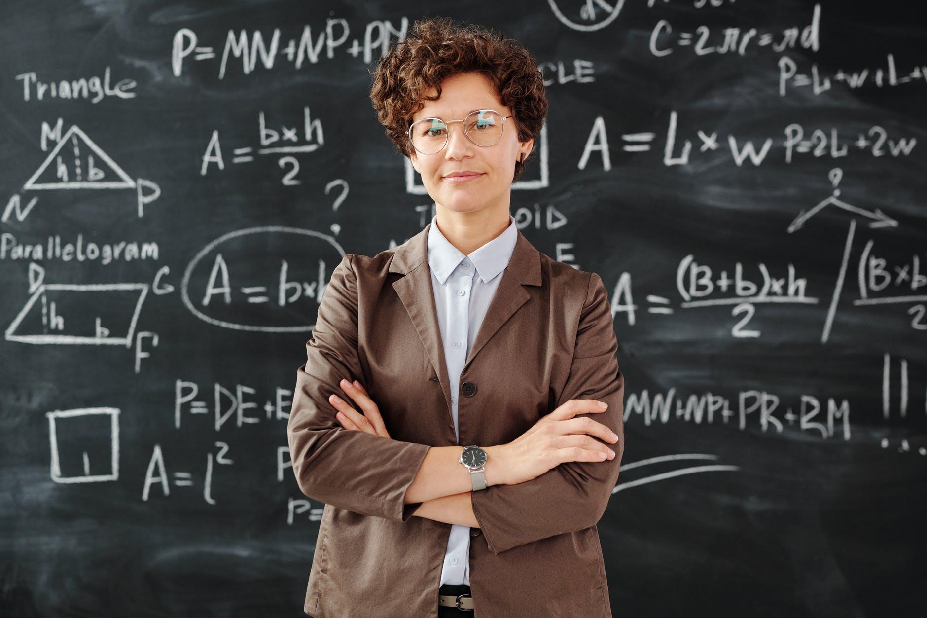 professor standing