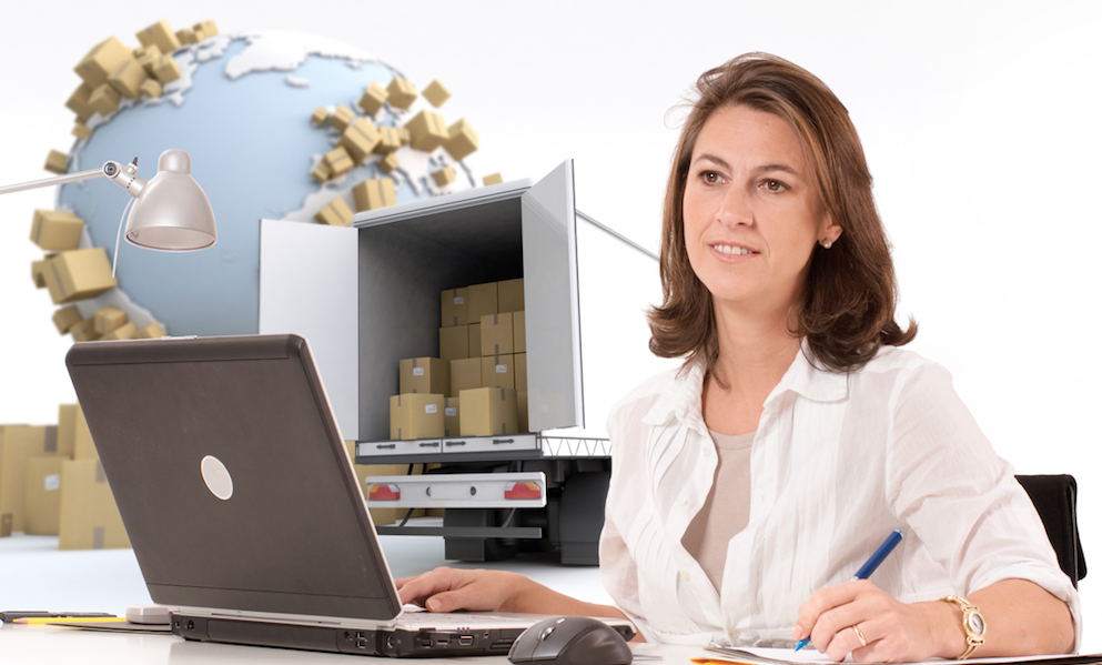 a lady in front of a laptop