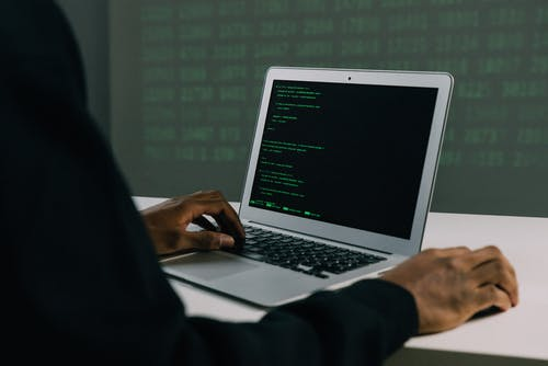 a man working on codes