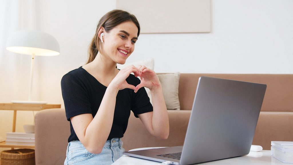 a lady in front of her laptop