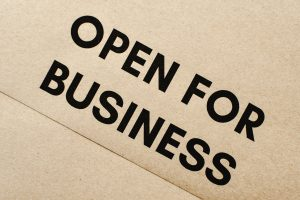 open for business tag